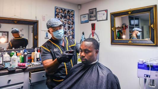 barbershops register voters