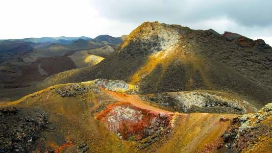 Volcano Eruption in Galapagos