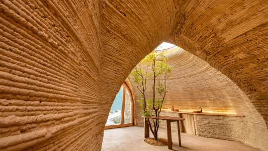 3d printed house made of dirt