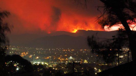 temperature inversion track wildfire smoke