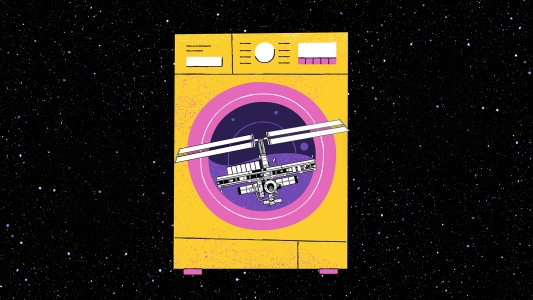 washing machine for space